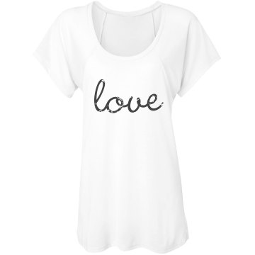 Love Flowy Top Misses Bella Flowy Lightweight Raglan Tee