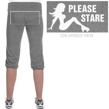 Roller Derby Please Stare Junior Fit Soffe Fleece Capri