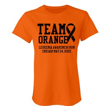 Team Orange Junior Fit Bella Crewneck Jersey Tee