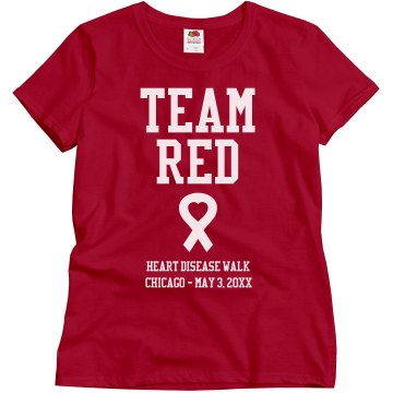 Team Red Misses Relaxed Fit Gildan Ultra Cotton Tee