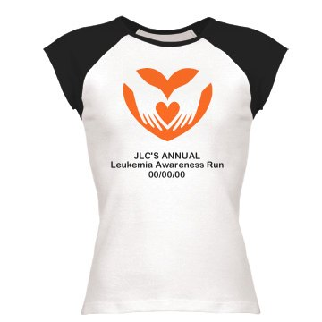 Leukemia Awareness Tee Junior Fit Bella 1x1 Rib Ringer Tee