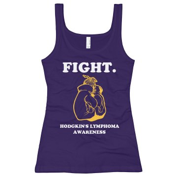 Fight Lymphoma Tank Junior Fit Bella Longer Length 1x1 Rib Tank Top