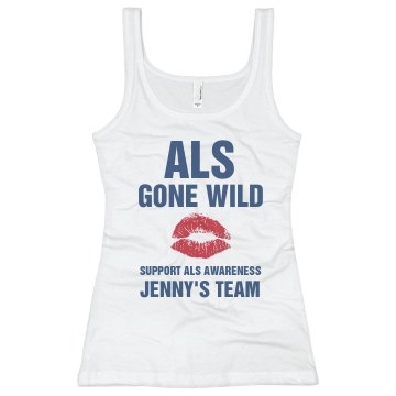 ALS Gone Wild  Tank Junior Fit Basic Bella 2x1 Rib Tank Top