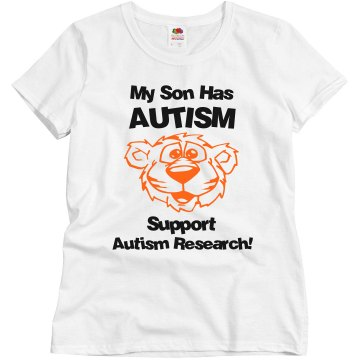Support Autism Research Misses Relaxed Fit Gildan Ultra Cotton Tee