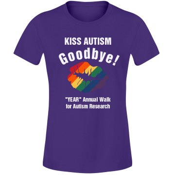 Kiss Autism Goodbye Misses Relaxed Fit Gildan Ultra Cotton Tee
