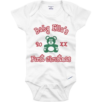 First Christmas Onesie Infant Gerber Onesies