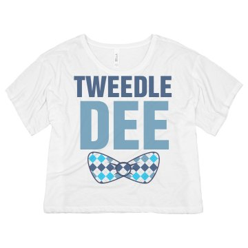 Tweedle Dee Bow Misses Bella Flowy Boxy Lightweight Crop Tee