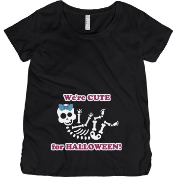 Cute Couple for Halloween Maternity LA T Sportswear Tee