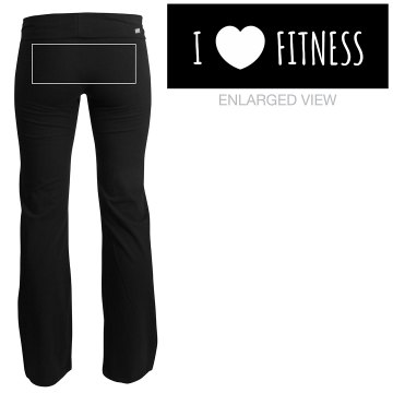 I Love Cross Fitness Junior Fit Soffe Yoga Pants