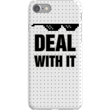 Deal With It iPhone Case Plastic iPhone 5 Case Black