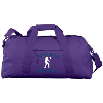Westerville Volleyball Port & Company Large Square Duffel Bag