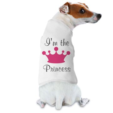 I'm The Princess Dog Tee Doggie Skins Dog Ringer Tee
