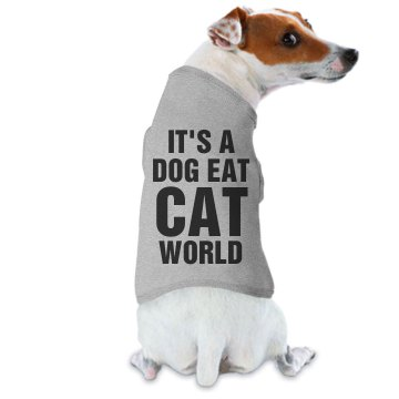 Dog Eat Cat World Ringer Doggie Skins Dog Ringer Tee