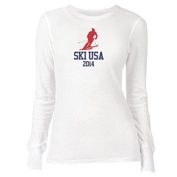 USA Ski Junior Fit Bella Long Sleeve Thermal Tee