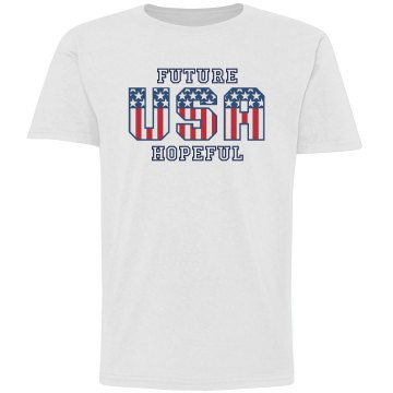 Future USA Hopeful Youth Basic Gildan Ultra Cotton Crew Neck Tee