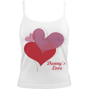 Danny's Love Bella Junior Fit Contrast Satin Trim Cami