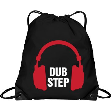Dubstep Bag Port & Company Drawstring Cinch Bag
