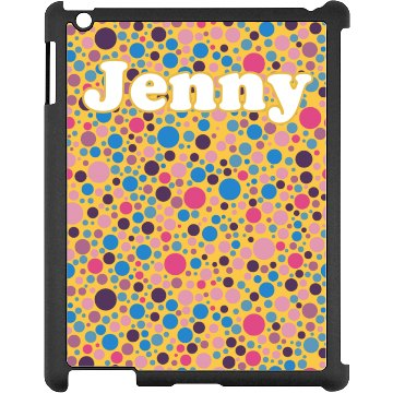 Colored Dots iPad Case Black iPad Snap-on Case