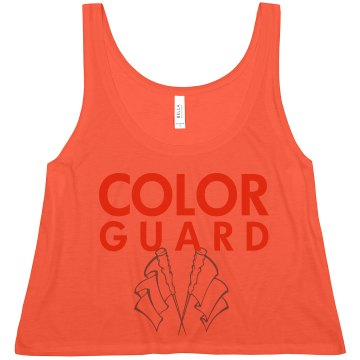 Color Guard Crop Misses American Apparel Neon Oversized Crop Tank