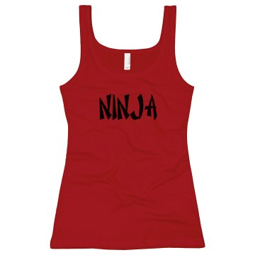 Ninja Junior Fit Bella Longer Length 1x1 Rib Tank Top