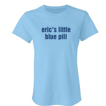 Eric's Little Blue Pill Junior Fit Bella Sheer Longer Length Rib Tee