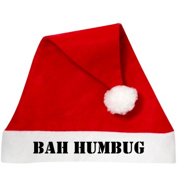 Bah Humbug Santa Hat Personalized Santa Hat