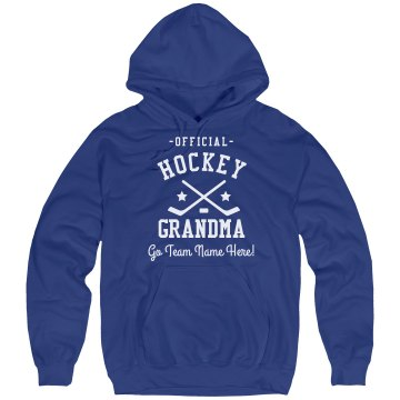 Official Hockey Grandma Unisex Hanes Ultimate Cotton Heavyweight Hoodie