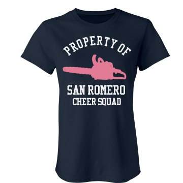 San Romero Cheer Squad Junior Fit Bella Crewneck Jersey Tee