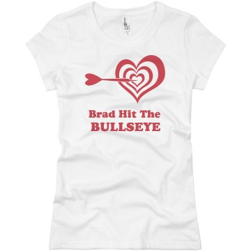 Hit The Bullseye Tee Junior Fit Basic Bella Favorite Tee