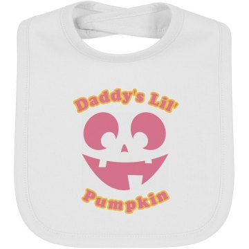 Daddy's Lil Pumpkin Infant Bella Baby 1x1 Rib Bib