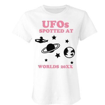 UFOs At Worlds Junior Fit Bella Sheer Longer Length Rib Tee