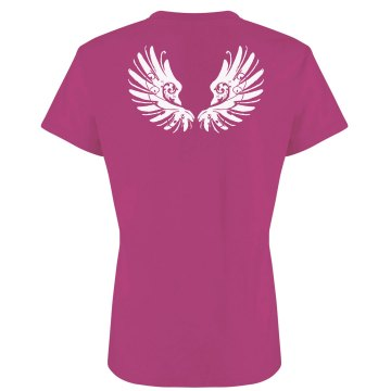 Pretty Angel Wings Junior Fit Bella Sheer Longer Length Rib Tee