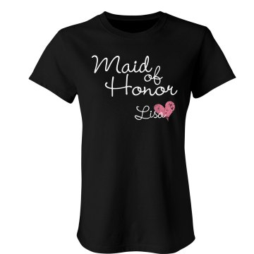 Maid Of Honor Junior Fit Bella Sheer Longer Length Rib Tee