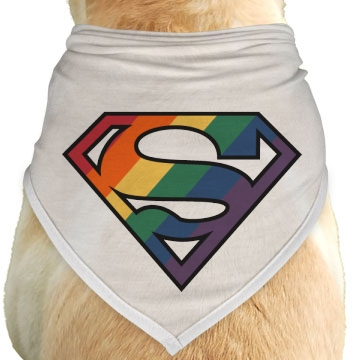 Super Gay Dog Dog Bandana