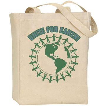 Unite For Earth! Liberty Bags Canvas Tote