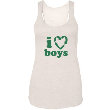I Recycle Boys Junior Fit Bella Sheer Longer Length Rib Strap Tank Top