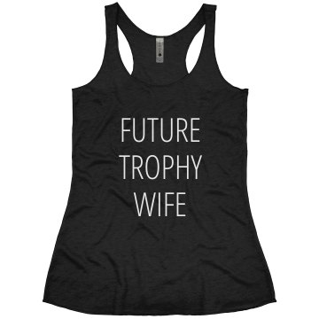 Future Trophy Wife Junior Fit Bella Crewneck Jersey Tee