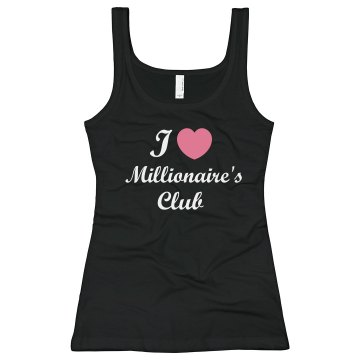 Millionaire's Club Junior Fit Bella Sheer Longer Length Rib Tank Top