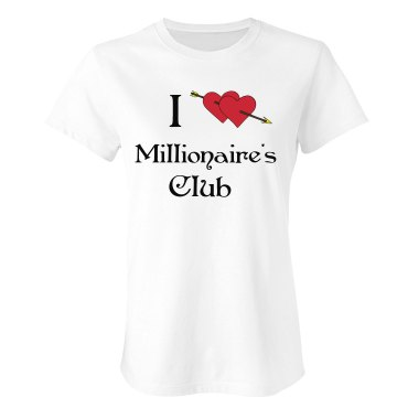 Millionaire&#x27;s Club Junior Fit Bella Sheer Longer Length Rib Tee