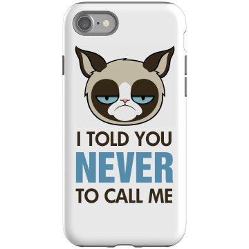 Grumpy Cat Hates Calls Rubber iPhone 4 & 4S Case Black