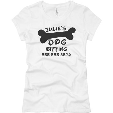 Dog Sitting Tee Junior Fit Basic Bella Favorite Tee