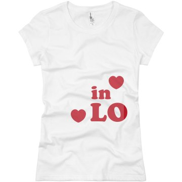 In Love Hearts Junior Fit Basic Bella Favorite Tee