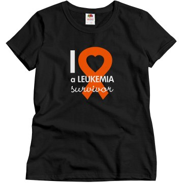 I Love A Survivor Misses Relaxed Fit Gildan Ultra Cotton Tee