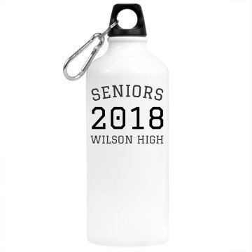 Seniors Water Bottle Aluminum Water Bottle