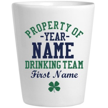 Drinking Team Shot Ceramic Shotglass