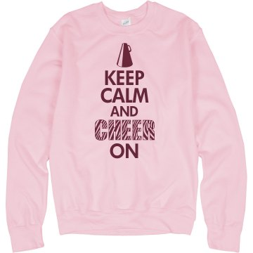 Cheer On Crew Neck Unisex Hanes Crew Neck Sweatshirt