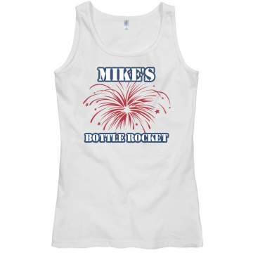 Mikes Bottle Rocket Junior Fit Bella Sheer Longer Length Rib Tank Top