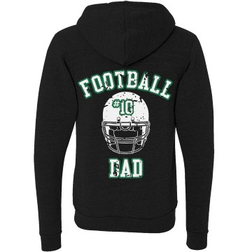 Football Dad Hoodie Unisex Canvas Triblend Zip Hoodie