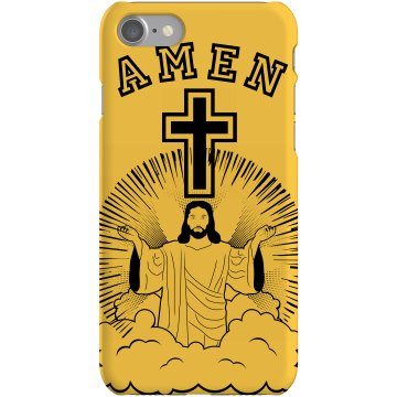 Amen Cross iPhone Case Plastic iPhone 5 Case Black
