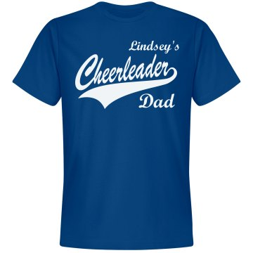 Cheer Dad Phone Unisex Gildan Heavy Cotton Crew Neck Tee